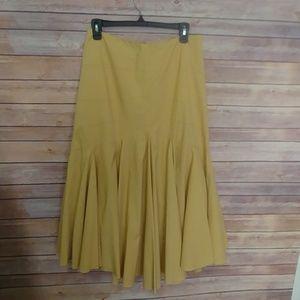Anthropologie Maeve asymmetrical yellow skirt